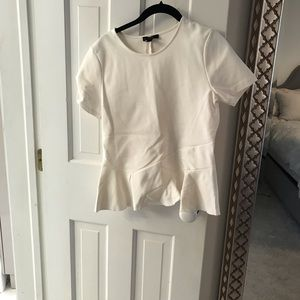 J. Crew fit & flare structured top